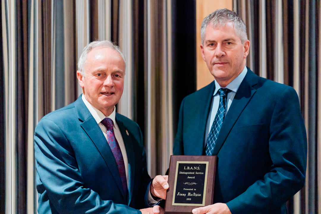 Minister Leo Glavine and LBANS Honourary Award Winner Jimmy MacAlpine